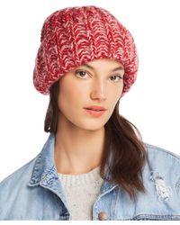 Aqua - Marled Rib-knit Beanie - Lyst