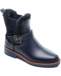Bernardo - Women's Shearling Waterproof Rain Booties - Lyst