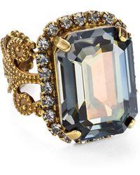 Sorrelli - Swarovski Crystal Cocktail Ring - Lyst