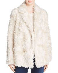 Theory - Clairene Faux-fur Coat - Lyst
