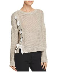 Aqua - Lace-up Sweater - Lyst