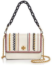 Tory Burch - Kira Whipstitch Leather Shoulder Bag - Lyst