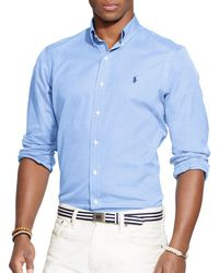 Polo Ralph Lauren - End-on-end Poplin Button-down Shirt - Classic Fit - Lyst