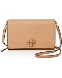 Tory Burch - Mcgraw Flat Leather Wallet Crossbody - Lyst
