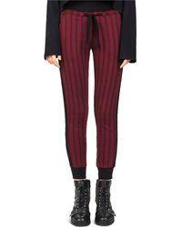The Kooples | Striped Burgundy Skinny Joggers | Lyst