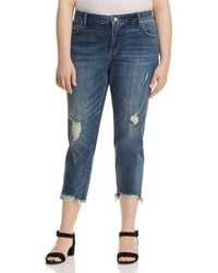 Lucky Brand - Reese Cropped Boyfriend Jeans In Beach Drive - Lyst