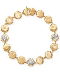 Marco Bicego - 18k Yellow Gold Diamond Pavé Jaipur Link Small Beaded Bracelet - Lyst