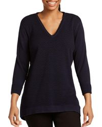 Foxcroft - Presley Mixed Knit Jumper - Lyst