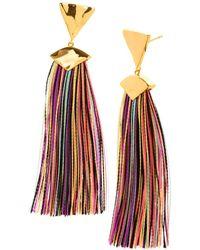 Gorjana - Havana Triangle Tassel Earrings - Lyst