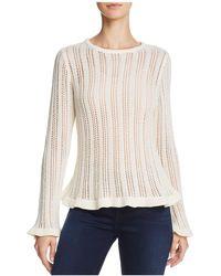 Aqua - Cutout Pointelle Sweater - Lyst