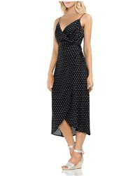 Vince Camuto - Island Imprints Midi Wrap Dress - Lyst