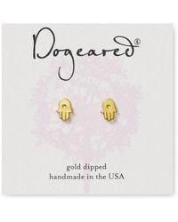 Dogeared - Hamsa Stud Earrings - Lyst