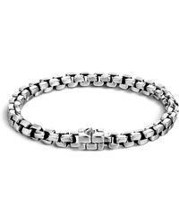 John Hardy - Men's Silver Square Link Bracelet - Lyst
