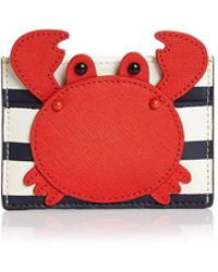 Kate Spade - Shore Thing Crab Appliqué Card Holder - Lyst