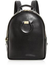 Ferragamo - Large Gancio City Calfskin Backpack - Lyst