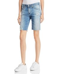 AG Jeans - Nikki Denim Shorts In 16 Years Indigo Deluge Destructed - Lyst