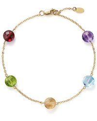Bloomingdale's - Multi Gemstone Station Bracelet In 14k Yellow Gold - Lyst