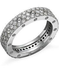 Roberto Coin - 18k White Gold Pois Moi Diamond Pavé Ring - Lyst