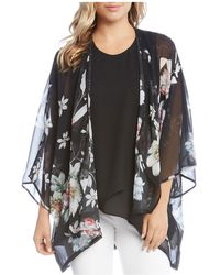 Karen Kane - Floral Print Open Kimono-style Cardigan - Lyst