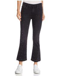 FRAME - Le Crop Studded Flare Jeans In Mott Street - Lyst