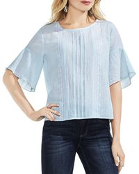 Vince Camuto - Ruffle-sleeve Crinkle Top - Lyst