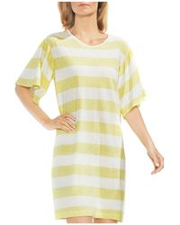 Vince Camuto - Ruffle Sleeve Stripe T-shirt Dress - Lyst