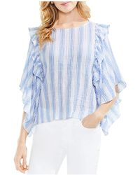 Vince Camuto - Stripe Puckered Blouse - Lyst