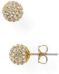 Nadri - Small Crystal Ball Earrings - Lyst