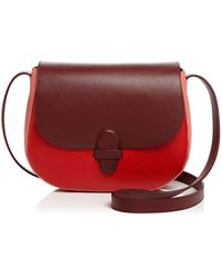 Olivia Clergue - Marisa Maxi Leather And Suede Saddle Bag - Lyst