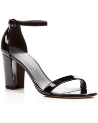 Stuart Weitzman - Nearly Nude Patent Leather D'Orsay Sandals - Lyst