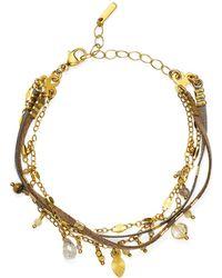 Chan Luu - Dangle Bracelet In 18k Gold-plated Sterling Silver - Lyst