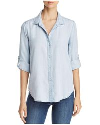 Side Stitch - Tie Back Button Down Chambray Shirt - Lyst