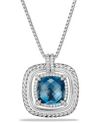 David Yurman - Châtelaine Pavé Bezel Necklace With Hampton Blue Topaz And Diamonds - Lyst