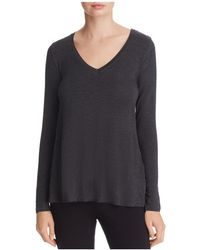 Majestic Filatures - Long-sleeve V-neck Tee - Lyst