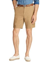 1873cadad824 Polo Ralph Lauren Classic Fit Stretch Twill Shorts in Natural for ...
