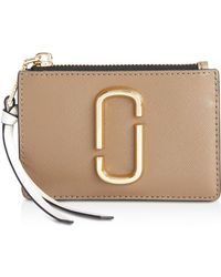 Marc Jacobs - Top Zip Leather Multi Card Case - Lyst