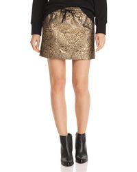 Aqua - Zadig & Voltaire X Metallic Mini Skirt - Lyst