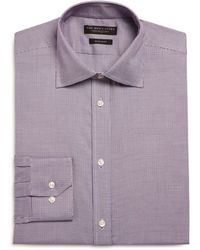 Bloomingdale's - Micro Houndstooth Regular Fit Dress Shirt - Lyst