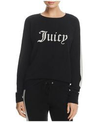 Juicy Couture - Striped-sleeve Cashmere Sweater - Lyst