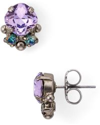 b611cceab Sorrelli Adorned Triangle Crystal Stud Earrings in Purple - Lyst