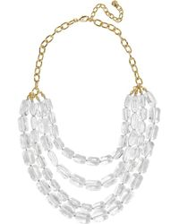 BaubleBar - Laree Lucite Necklace - Lyst