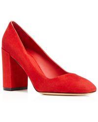 Ferragamo - Arezzo High Block Heel Court Shoes - Lyst