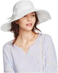 Aqua - Ribbon Floppy Sun Hat With Bow - Lyst