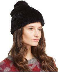 Mackage - Arezzo Knit Rex Rabbit Fur & Fox Fur Beanie - Lyst