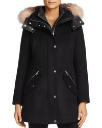 Andrew Marc - Brynn Fox Fur Trim Coat - Lyst