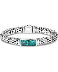 Lagos - Sterling Silver Maya Escape Chrysocolla Doublet Rope Bracelet - Lyst