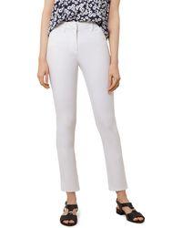 Hobbs - Amanda Ankle Straight-leg Jeans In White - Lyst