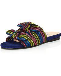 Charles David - Souffle Printed Slide Sandals - Lyst