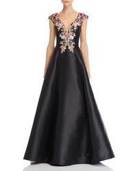 bc2310424a Basix Black Label - Embellished Silk Ball Gown - Lyst