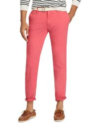 Polo Ralph Lauren - Slim Fit Cotton Twill Pant - Lyst